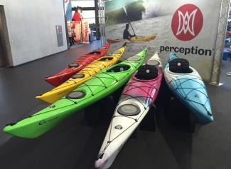 display of Expression kayaks