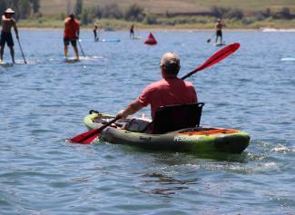 paddling the Pescador Pro