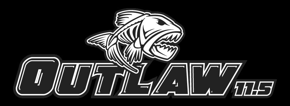 Outlaw kayak logo with fish